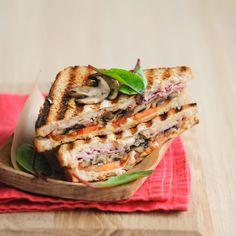 Découvrez la recette Croque monsieur aux champignons sur cuisineactuelle.fr.