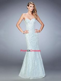 Stunning Sequined Lace Mermaid with Sweetheart Prom Dress PD12214