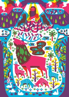 Nowbrow Magazine 4 — Till Hafenbrak Illustration Hafenbrak's style and use of colours remind me a lot of 60's children's books I used to read as a kid.