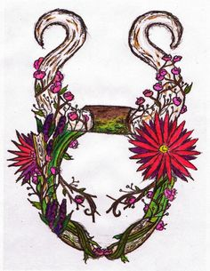 taurus tattoo design, made up of Colorado and California wildflowers earth taurus Tattoo Memes, California Wildflowers, Taurus Traits, Taurus Tattoos, Famous People, Zodiac Signs, Tattoo Designs, Craft Projects, Symbols