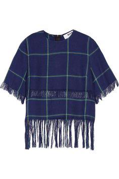 MSGM Fringed plaid linen top. #msgm #cloth #top