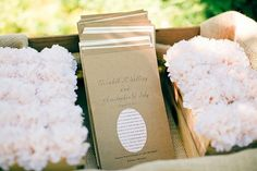 Wedding Programs on Kraft Paper