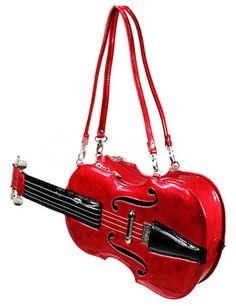 Can't afford the real Red Violin? Here's an alternative! I have a feeling it's just not going to sound quite the same. {Beautiful Red Violin Pattern PU Shoulder Bag - Milanoo.com}