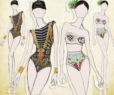 croqui moda praia - Google Search