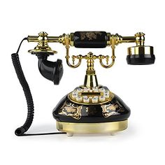 Buy LNC Black Ceramic LNC Retro Vintage Antique Style Push Button Dial Desk Telephone Phone Home Living Room Decor - Topvintagestyle.com ✓ FREE DELIVERY possible on eligible purchases