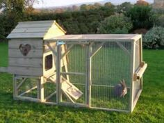 would love my rabbits to have hutches like this