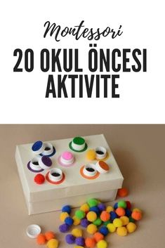 Evde yapılabilecek 20 okul öncesi aktivite Montessori added a lot to preschool education. In the system where every cell of the brain works with muscles that are not based on memorization, children le Preschool Activities At Home, Preschool Centers, Montessori Preschool, Preschool Education, Toddler Learning Activities, Color Activities, Infant Activities, Kids Learning, Kids Playing