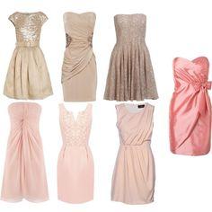 Dress colors: ballet slipper pink, champagne gold, blush pink.