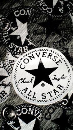 Converse All Star iPhone Wallpaper Cool Black Wallpaper, Android Wallpaper Black, Wallpaper Backgrounds, Iphone Wallpaper, Wallpapers, Converse Logo, Converse Sneakers, Converse All Star, White Converse