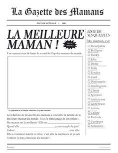 Gazette des mamans à imprimer