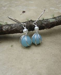 Small Amazonite and Fresh Water Pearl by nicholasandfelice on Etsy, $16.50