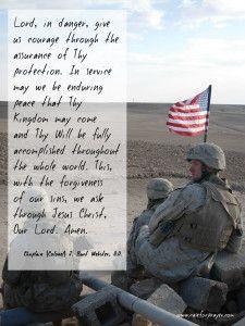 Military Prayer - Chaplain J. Webster - Protection