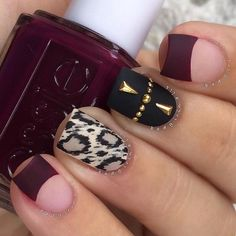 The trendiest fall nail designs require some practice to look perfect. However, if you are patient, you can easily make your nails look amazing. Fall Nail Art Designs, Pretty Nail Designs, Fall Nail Polish, Nail Polish Colors, Gorgeous Nails, Pretty Nails, Wine Nails, Cute Nails For Fall, Fall Nails