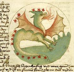 Medieval Manuscript Images, Pierpont Morgan Library, Von dem Gang des Himels und Sternen. MS M.384 fol. 16v