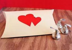 Wedding Favor Pillow Boxes Double Heart Accent Set of by tiffzippy, $36.25 #wedding #valetine