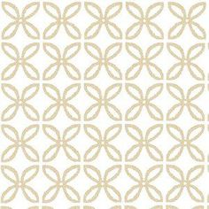 Michael Miller House Designer - Mod Prints - Clover Pearlized in Rose Gold Glimmer