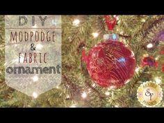 DIY Mod-Podge and Fabric Ornaments - Shabby Fabrics