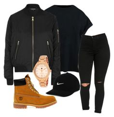 """Untitled #209"" by kingrabia on Polyvore featuring Topshop, Timberland, Tommy Hilfiger and NIKE"