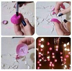 Bedroom Christmas Lights Decoration - DIY love it Diy Room Decor For Teens, Teen Room Decor, Diy For Teens, Bedroom Decor, Diy Home Crafts, Diy Home Decor, Cool Diy, Easy Diy, Theme Carnaval