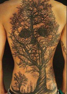 Skull tree sky