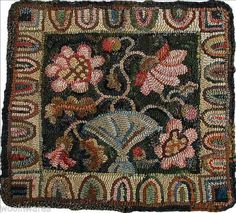 Fine Primitive Rug Hooking Patterns Pics Ideas Or Peony Pillow By I Am This Gorgeous