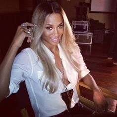 I really like this style and color on Ciara it's a great shade of blonde that compliments her complexion without washing her out or making her look dated.