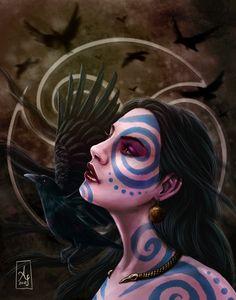The Morrigan by AranzazuFernandez.deviantart.com on @DeviantArt
