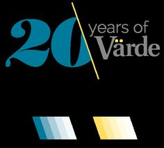 Värde - Anniversary logo by Apple&Pear, via Behance