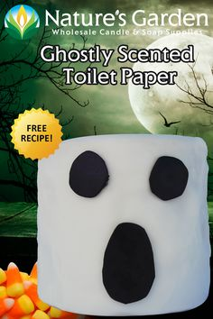 Ghostly Toilet Paper Air Freshener Recipe is available from Natures Garden. Learn how to make homemade scented toilet paper roll air fresheners. Diy Halloween Decorations, Halloween Crafts, Halloween Party, Recipe Paper, Toilet Paper Roll, Wax Paper, How To Make Homemade, Fall Crafts, Free Food