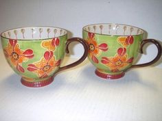 Dutch Wax - Ceramic Floral Mugs.  I have an obsession with this brand.  They have sooo many cute designs.  I have quite a collection.
