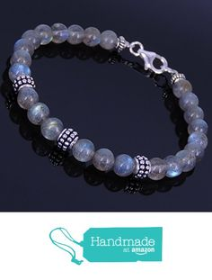 Men and Women Bracelet Handmade with 6mm High Quality Labradorite Beads and Genuine 925 Sterling Silver Beads, Spacers & Clasp from DiyNotion http://www.amazon.com/dp/B016W09XE0/ref=hnd_sw_r_pi_dp_zpQnxb11WVN6K #handmadeatamazon