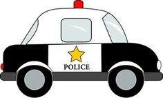 Police Car Clipart Image: Police car cartoon