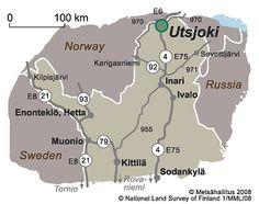 Utsjoki on pohjoisin kunta Suomessa.
