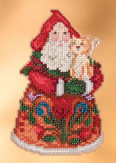 Jim Shore by Mill Hill  Purrfect Christmas Santa  by DebiCreations, $7.99