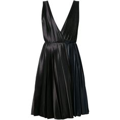 Cédric Charlier pleated plunging neck dress (32 635 UAH) ❤ liked on Polyvore featuring dresses, cédric charlier, lbd, black, little black dress, plunging neckline dress, lbd dress, plunge-neck dresses and pleated dress