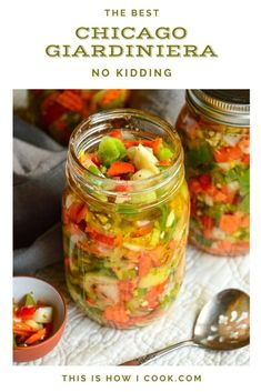 This spicy Italian vegetable relish tastes great on almost anything, though it is a must on Italian Beef or Chicago Style Red Hots! #relish #Italianrecipes #chicagorecipes Sweet Banana Peppers, Stuffed Banana Peppers, Stuffed Green Peppers, Italian Beef, Italian Recipes, Healthy Appetizers, Healthy Snacks, Giardiniera Recipe, Italian Vegetables