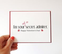 Valentines Card  I Love you Card  Secret Admirer  by RowHouse14, $4.25