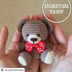Best 12 by estermirumi Free amigurumi pattern of a bear keychain. Crochet Teddy Bear Pattern, Crochet Amigurumi Free Patterns, Crochet Toys, Free Crochet, How To Start Knitting, Amigurumi Doll, Stuffed Toys Patterns, Handmade Toys, Free Knitting