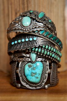 Vintage Clothing for Women at Free People.. I LOVE these turquoise rings!