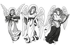 Advanced Embroidery Designs - Flying Angel Set I