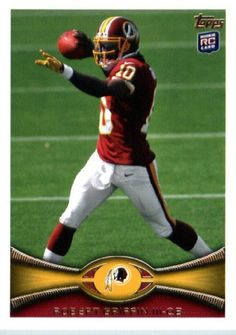 2012 Topps ENCASED Football Card #340 Robert Griffin III Rookie Washington Redskins by 2012 Topps. $13.95. 2012 Topps ENCASED Football Card #340 Robert Griffin III Rookie Washington Redskins