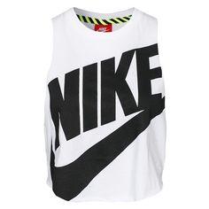 Nike Ntf Crop Sleeveless Top ❤ liked on Polyvore featuring tops, nike tank, sleeveless tank, crop top, nike and nike tank tops