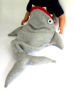 Baby Shark Sleeping Bag by TheMiniatureShop: Arghhhhh! #Sleeping_Bag #Baby #Shark