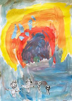 Moje rodina. Temperové barvy, tuš. Tempera, Painting, Painting Art, Paintings