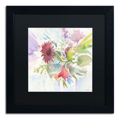 Bouquet Impression by Sheila Golden Framed Painting Print