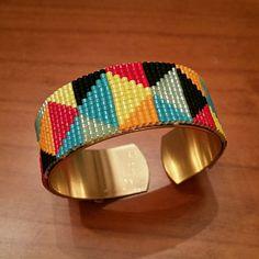 "Bracelet manchette perles miyuki ""ANI"" : Bracelet par tchou-bijoux"