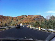Highway 15 North direction Ste. Agathe de Monts    (fall season)