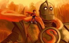 """Iron Giant"" by Kallie LeFave - 5X7 print, signed   (larger sizes for sale at the link)"