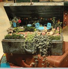 Great fairy garden ideas.