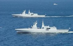 South African Navy Meko A200 class light frigates.